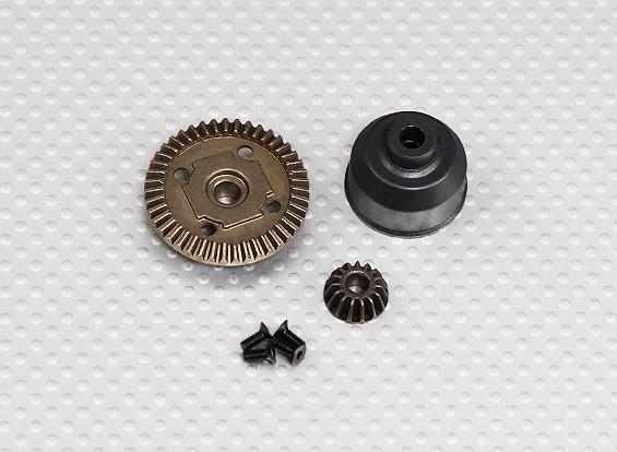 Engrenagem diferencial Caso 1/10 Turnigy 4WD Brushless Truck Curso de curta duração