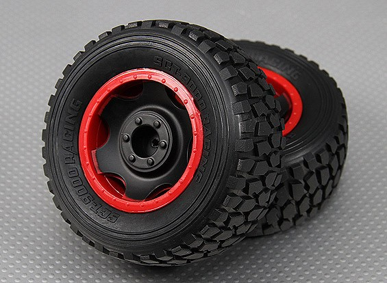 Roda w / pneu 1/10 Turnigy 4WD Brushless Short Course Truck (2pcs / Bag)