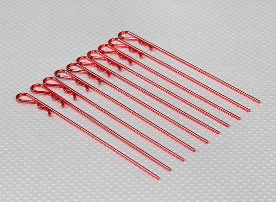 Longos pesados clipes corpo de serviço (vermelho) (10pcs)