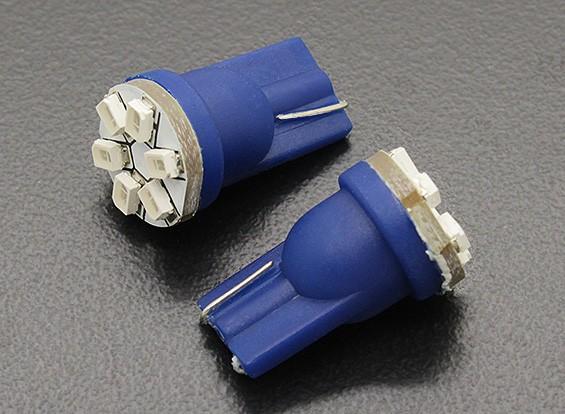 LED milho luz 12V 0.9W (6 LED) - Blue (2pcs)