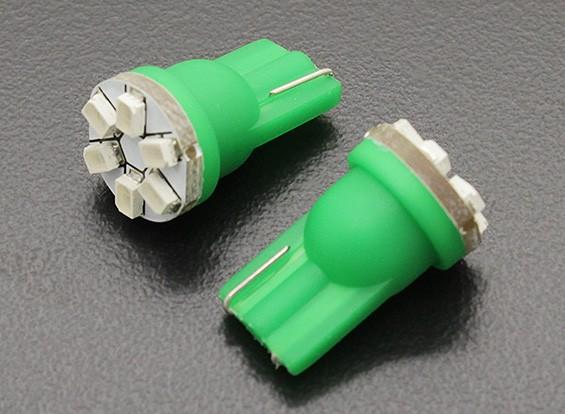 LED milho luz 12V 0.9W (6 LED) - Verdes (2pcs)