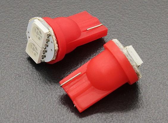 LED milho luz 12V 0.4W (2 LED) - Vermelho (2pcs)