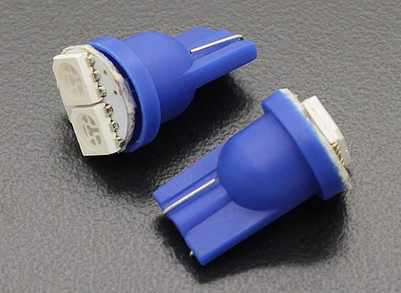 LED milho luz 12V 0.4W (2 LED) - Blue (2pcs)