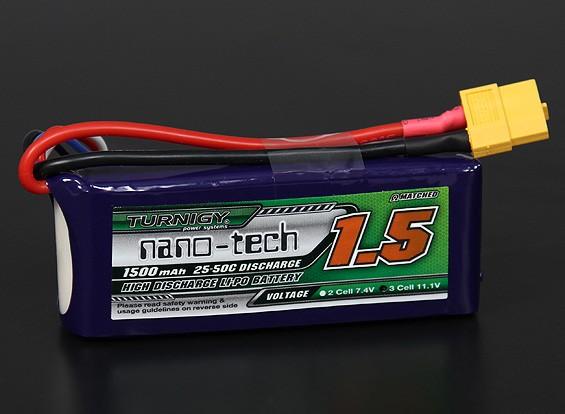Turnigy nano-tecnologia de 1500mAh 3S 25 ~ 50C Lipo pacote