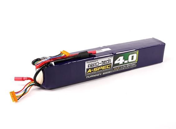 Turnigy nano-tecnologia A-Spec 4000mAh 12S 65 ~ 130C Lipo pacote