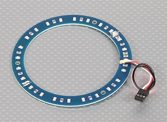 Anel LED 100 milímetros verde w / 10 modos selecionáveis
