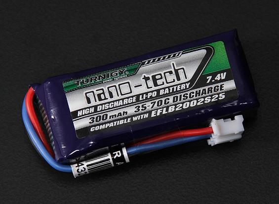 Turnigy nano-tecnologia 300mAh 2S 35 ~ 70C Lipo Pack (E-flite EFLB2002S25 série micro compatível)