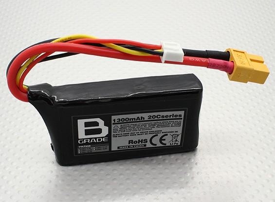 Bateria B-Grade 1300mAh 2S 20C Lipoly
