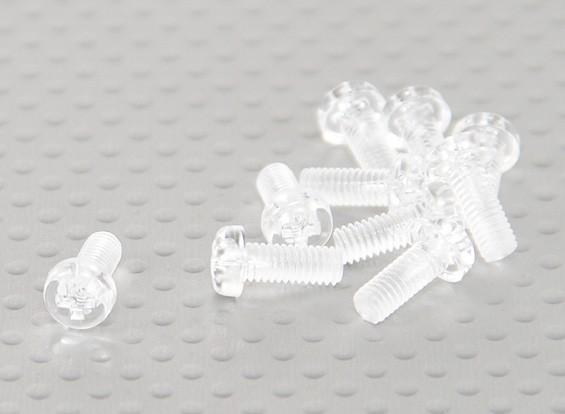 Parafusos policarbonato transparente M4x10mm - 10pcs / bag