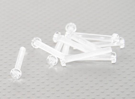 Parafusos policarbonato transparente M4x30mm - 10pcs / bag