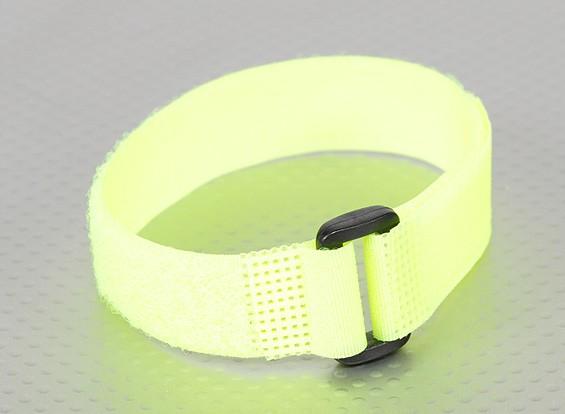Gancho e laço Universal Tie Down - Flouro amarelo - 300 milímetros