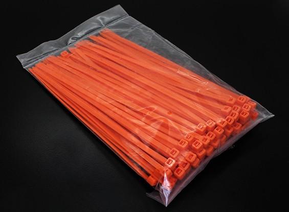 Zip eléctrico / cabo laços 4xL150mm - 100 / bag (Laranja)