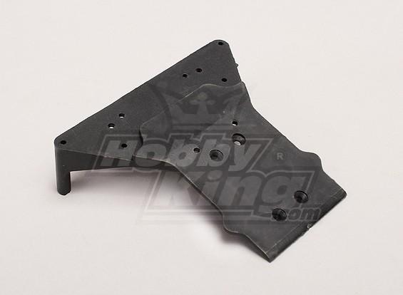 Frente Chassis Plate - Turnigy Trailblazer 1/8, XB e XT 1/5