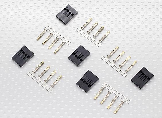 conectores JWT, 4 pinos - 5set / bag