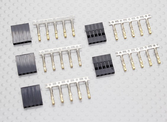 conectores JWT, 5 pinos - 5set / bag