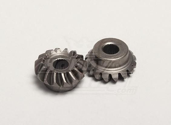 Nutech Diferencial Bevel Gear (Principal) (2pcs / bag) - Turnigy Twister 1/5
