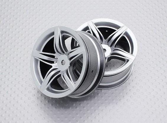 Escala 1:10 de alta qualidade Touring / tração das rodas do carro de RC 12 milímetros Hex (2pc) CR-F12S