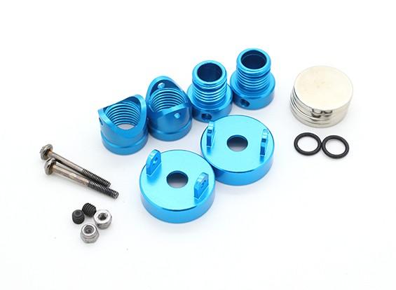 Invisíveis corpo de alumínio de montagem Posts (2pcs) Light Blue
