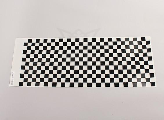 Folha de decalque pequeno Chequer Padrão Preto / Clear 590mmx180mm