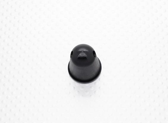 22 milímetros prop Nut / Spinner Alloy M6x1.00 anodizado preto