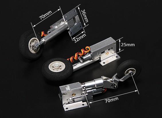 Turnigy Full Metal Servoless Retracts com pés Oleo (Triciclo, tipo Habu)