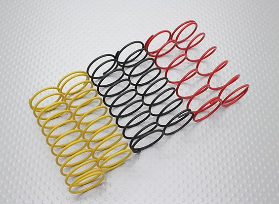 Frente Choque molas Preto / amarelo / vermelho (2pcs cada cor) - A2038 e A3015