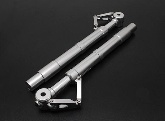 Turnigy 60 ~ 90 tamanho Alloy Sprung Oleo Strut com Trailing Link (130 milímetros) 2pc