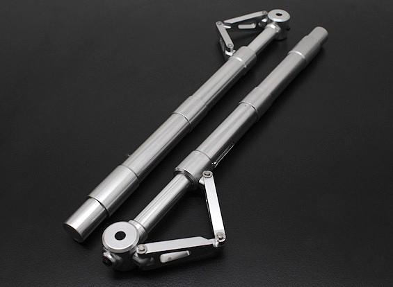 Turnigy 60 ~ 90 tamanho Alloy Sprung Oleo Strut com Trailing Link (170 milímetros) 2pc