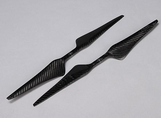 Multirotor Carbon Fiber T-Style Hélice 17x5.5 Preto (CW / CCW) (2pcs)