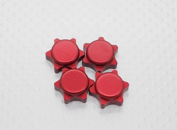 1/8 Scale porca da roda 17 milímetros de alumínio - Vermelho (4PC)