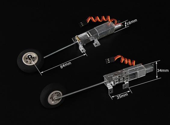Turnigy 90 graus Todos Metal Retracção Sistema w / 3 milímetros de fio de perna (Modelos 2kg AUW Max)
