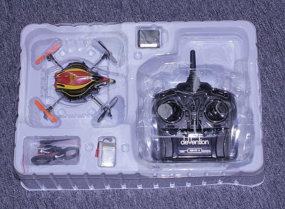 RISCO / DENT Walkera QR Infra X Micro Quadrotor w / IR e manter a altitude (Modo 2) (RTF)
