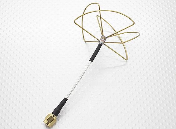 2.4 GHz Circular polarizada antena SMA (somente receptor)