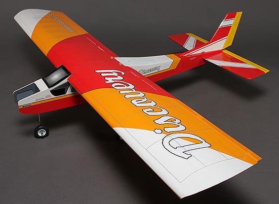 Discovery (Red) Balsa Hi-Wing instrutor Brilho / EP 1.620 milímetros (ARF)