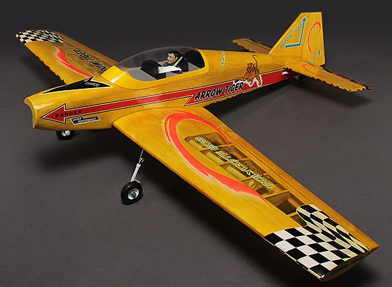 Arrow Tiger Desporto / Performance balsa Modelo / brilhar 1.480 milímetros (ARF)