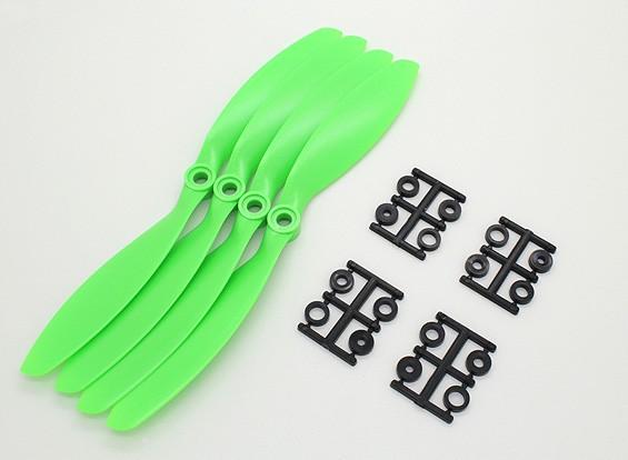 GWS Estilo Slowfly Hélice 8x3.8 Green (CCW) (4pcs)