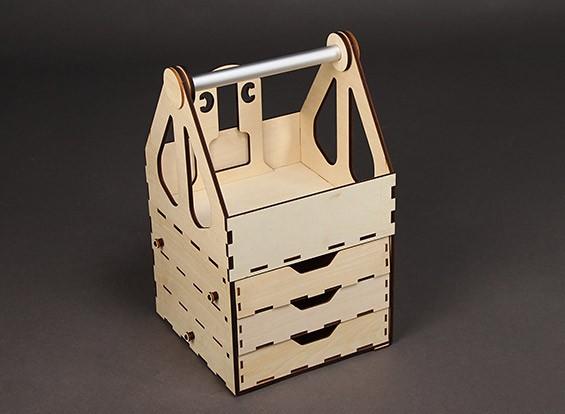 H-King Laser Cut Plywood Box campo 400 milímetros x 235 milímetros x 235 milímetros - Montagem Auto