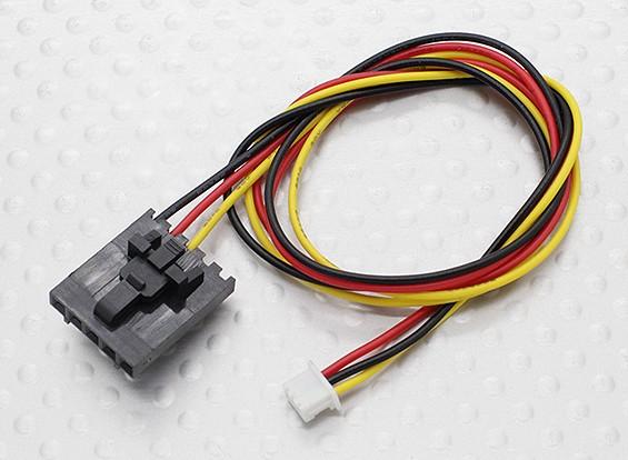 300 milímetros 5 Pin Molex / JR a 3 Pin Branco Connector chumbo
