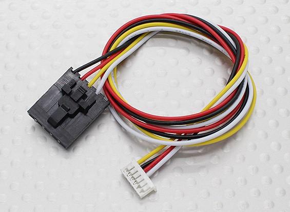 300 milímetros 5 Pin Molex / JR para 6 Pin Branco Connector chumbo