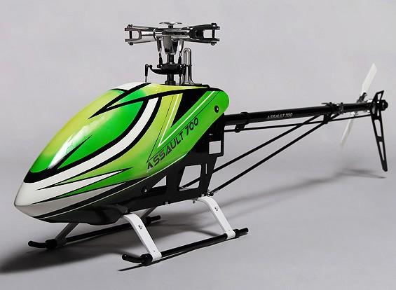Assalto Kit de helicóptero de 700 DFC elétrica Flybarless 3D