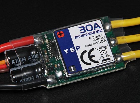 HobbyKing YEP 30A (2 ~ 4S) SBEC Brushless Controlador de velocidade com SW ajustada
