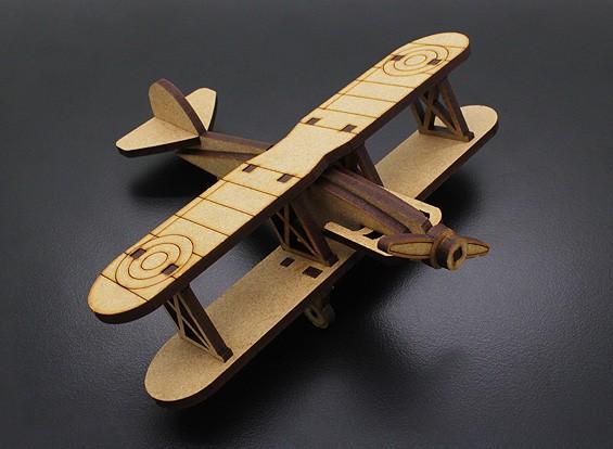 Bi-Plane Modelo de madeira cortado a laser (KIT)