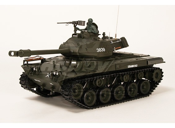 US-M41A3 Walker BullDog Luz RC Tanque RTR w / Airsoft & Tx