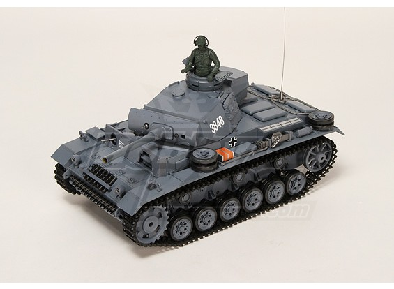 Panzer Kampfwagen III Ausf.L RC Tanque RTR w / Airsoft & Tx