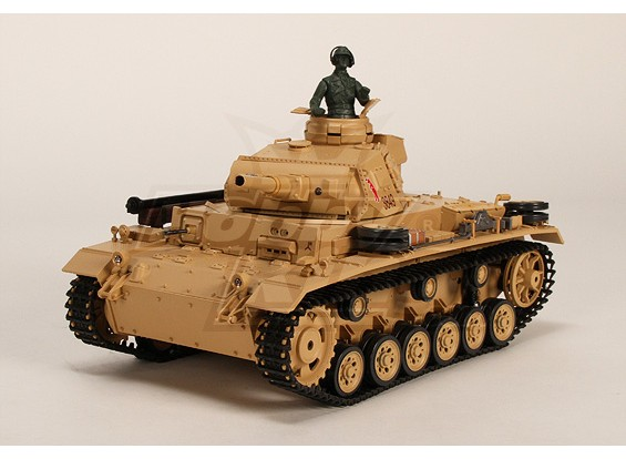 Tauch Panzer III Ausf.H RC Tanque RTR w / Airsoft / Smoke & Tx