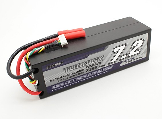 Turnigy 7200mAh 4S 14.8V 40C Hardcase pacote