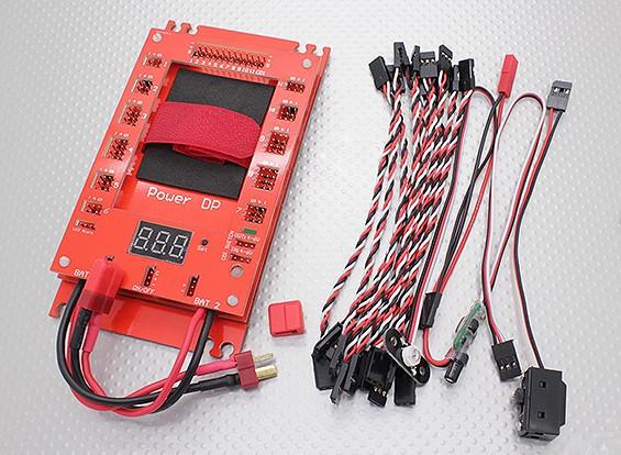 Placa de distribuição de energia DP 30A Servo de energia (12 entradas / 34 saídas)