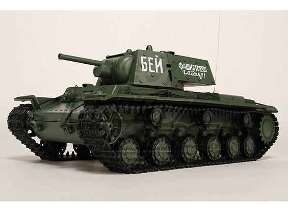 KV-1S Ehkranami RC Tanque RTR w / Airsoft / Smoke & Tx