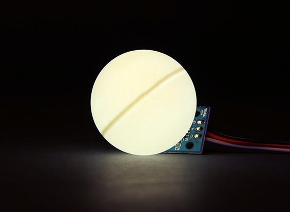 LED PCB Strobe Branco 3.3 ~ 6.0V com bola Difusor