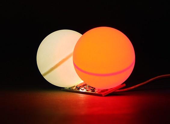 LED PCB Red Strobe e branco contínua LED 3.3 ~ 6.0V com gêmeo Bola Difusor